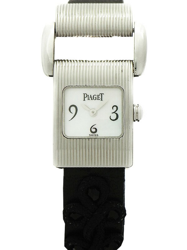 【PIAGET】【WGケース】【電池交換済】ピアジェ『ミスプロトコール』レディース クォーツ 3ヶ月保証【中古】