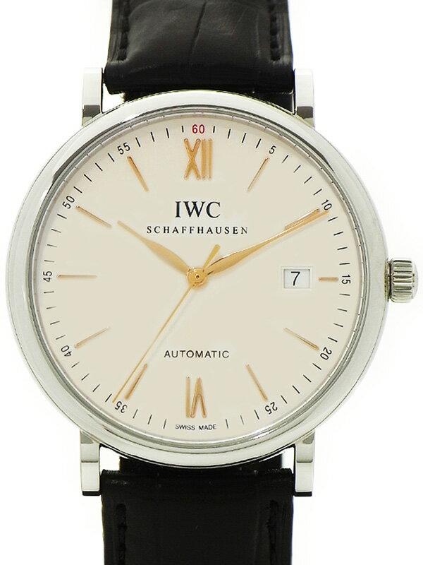 【IWC】【'16年購入】【美品】インターナショナルウォッチカンパニー『ポートフィノ オートマティック』IW356517 メンズ 自動巻き 3ヶ月保証【中古】