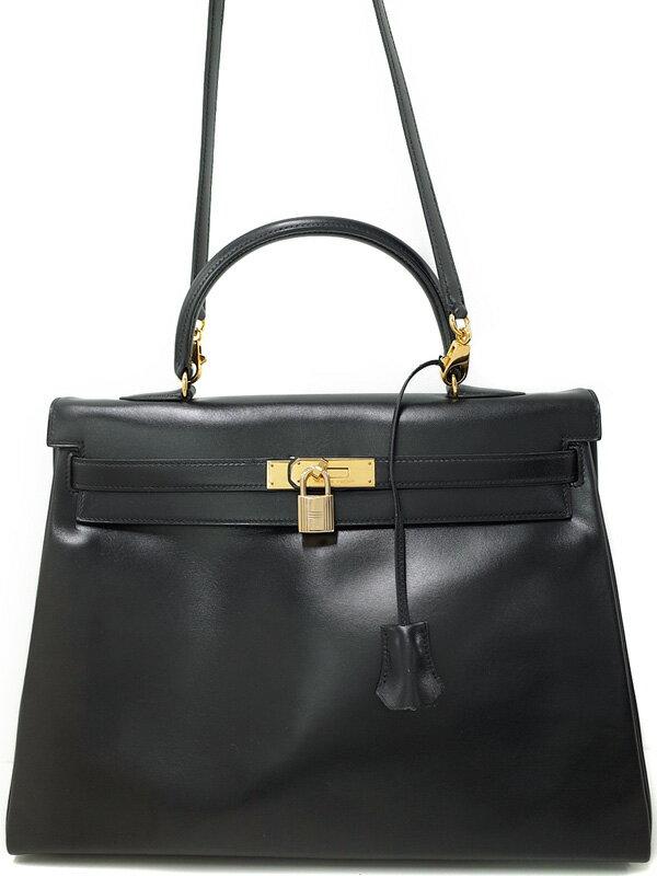 【HERMES】【ゴールド金具】エルメス『ケリー35 内縫』U刻印 1991年製 レディース 2WAYバッグ 1週間保証【中古】