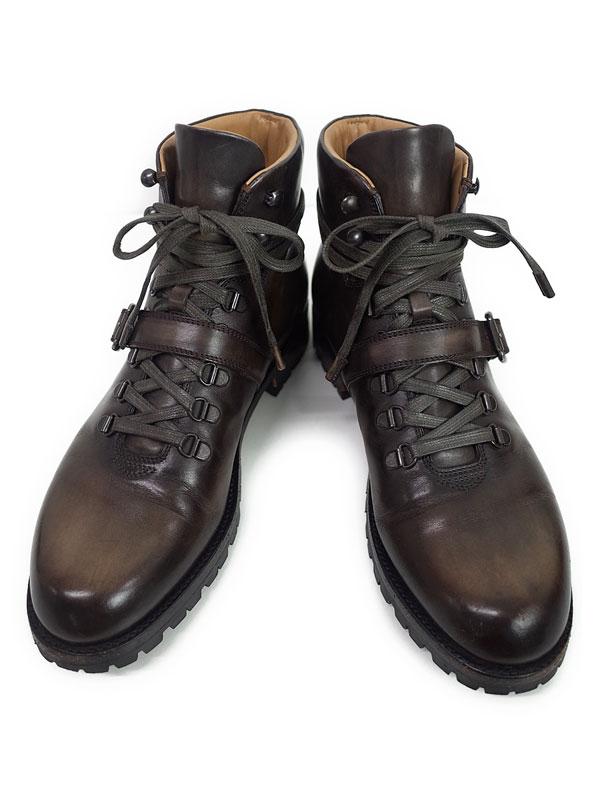 【Berluti】ベルルッティ『BRUNICO レザーマウンテンシューズ size 8 1/2』メンズ ブーツ 1週間保証【中古】