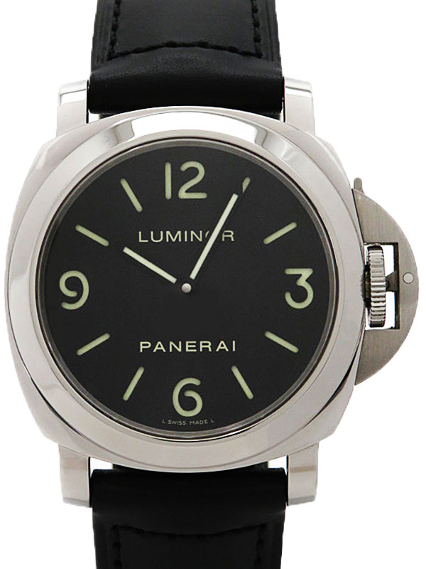 【PANERAI】【裏スケ】パネライ『ルミノールベース 44mm』PAM00112 M番'07年製 メンズ 手巻き 3ヶ月保証【中古】