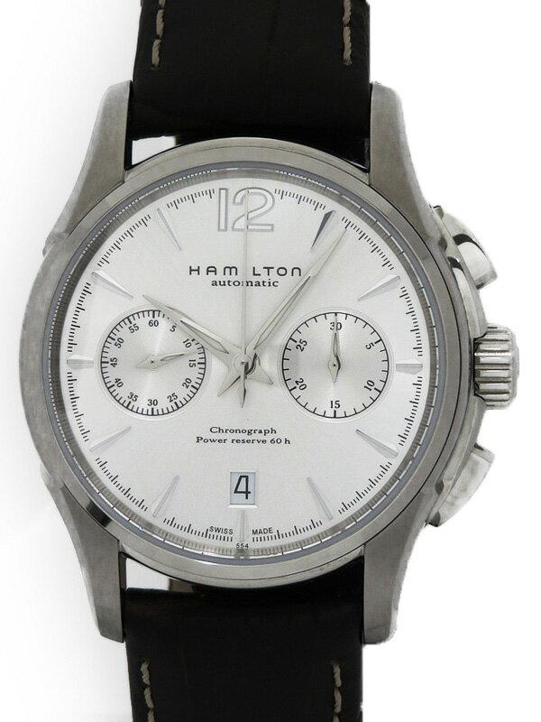 【HAMILTON】【裏スケ】【'16年購入】ハミルトン『ジャズマスター クロノグラフ オートマティック』H32606855 メンズ 自動巻き 1ヶ月保証【中古】
