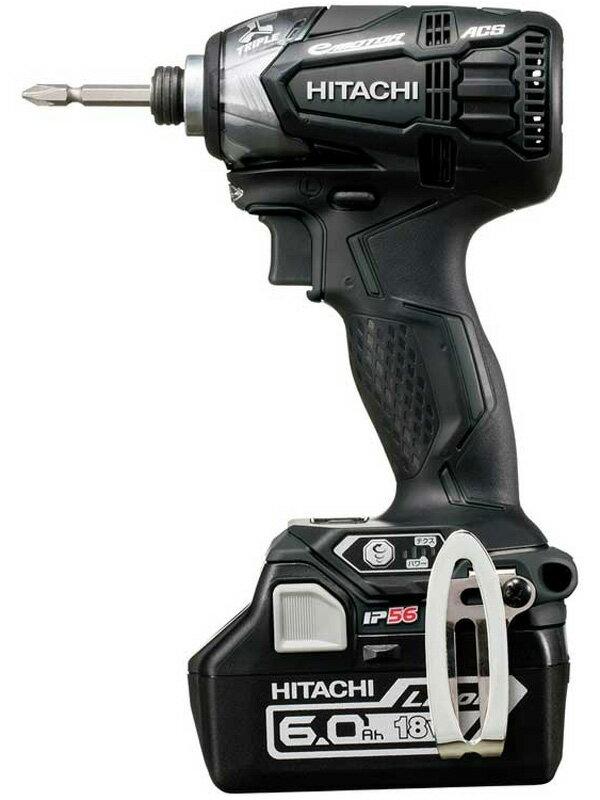 【Hitachi Koki】日立工機『コードレスインパクトドライバ』WH18DDL2 2LYPK(B) ストロングブラック 18V 6.0Ah×2 LEDライト【新品】b06t/h17N