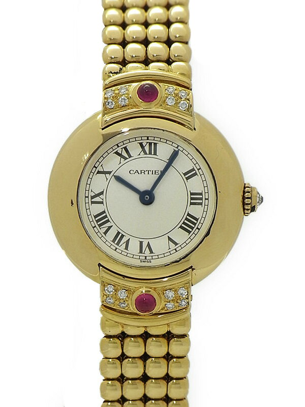 【Cartier】【YG】【メーカーオーバーホール済】カルティエ『マストコリゼ』レディース 手巻き 6ヶ月保証【中古】