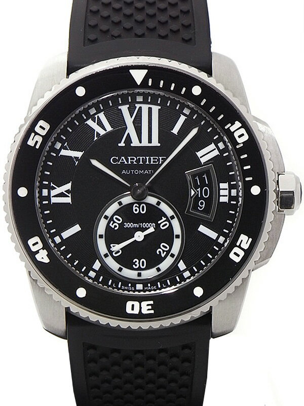 【CARTIER】【'15年購入】カルティエ『カリブル ドゥ カルティエ ダイバー』W7100056 メンズ 自動巻き 6ヶ月保証【中古】