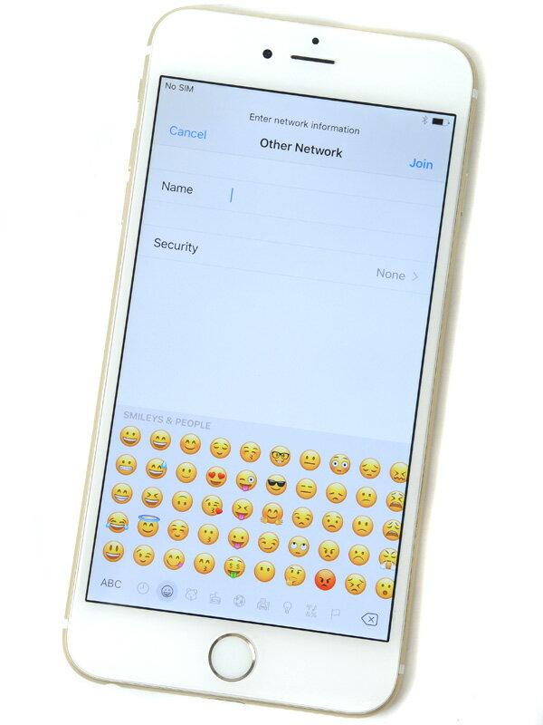 【Apple】アップル『iPhone 6 Plus 128GB SoftBank』MGAF2J/A ゴールド iOS10.1.1 5.5型 白ロム ○判定 スマートフォン【中古】