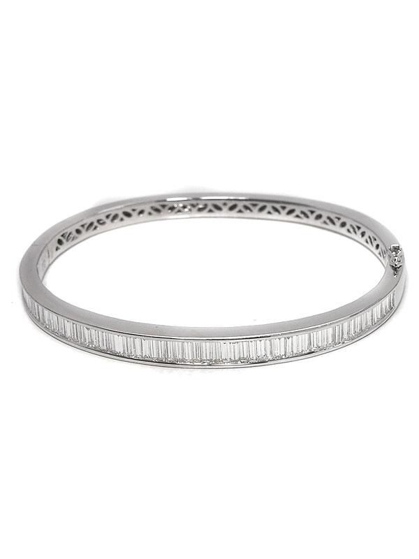 セレクトジュエリー『K18WGブレスレット ダイヤモンド3.36ct』1週間保証【中古】