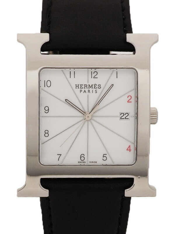 【HERMES】【OH・電池交換・仕上済】エルメス『Hウォッチ』HH1.810 メンズ クォーツ 1ヶ月保証【中古】