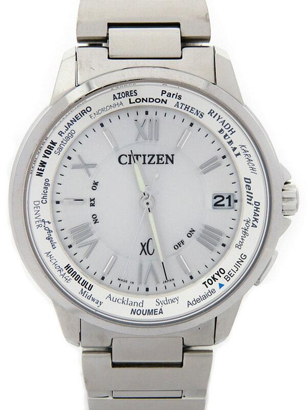 【CITIZEN】シチズン『クロスシー』CB1020-54A メンズ ソーラー電波クォーツ 1週間保証【中古】