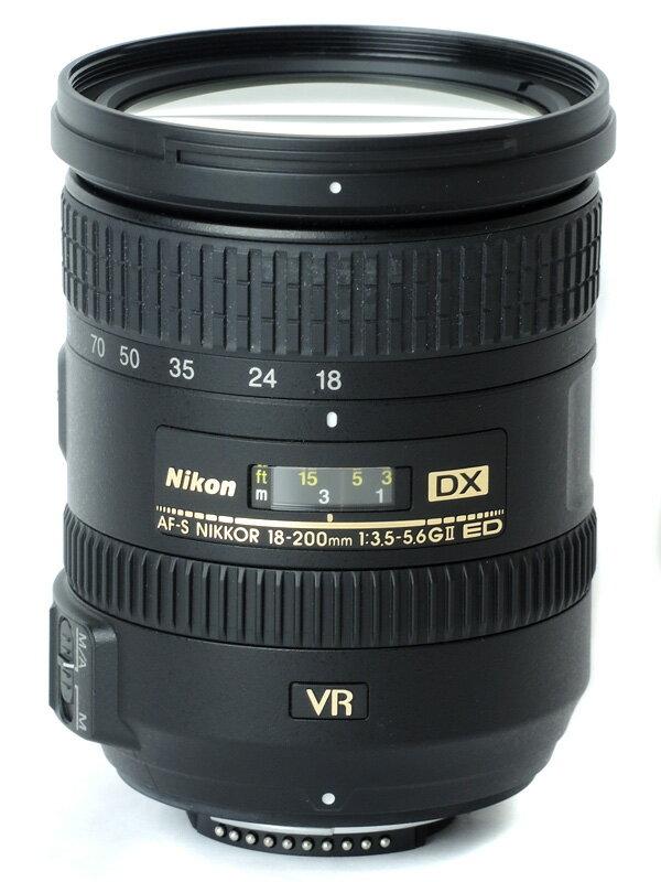 【Nikon】ニコン『AF-S DX NIKKOR 18-200mm f/3.5-5.6G ED VR II』AFSDXVR18-200G2 27-300mm相当 デジタル一眼レフカメラ用 レンズ 1週間保証【中古】