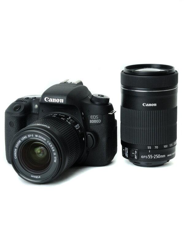 【Canon】キヤノン『EOS 8000D ダブルズームキット』EOS8000D-WKIT デジタル一眼レフカメラ 1週間保証【中古】