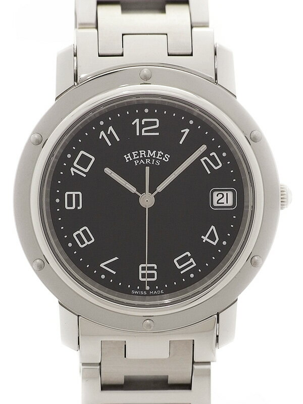 【HERMES】エルメス『クリッパー』CL6.710 メンズ クォーツ 1ヶ月保証【中古】
