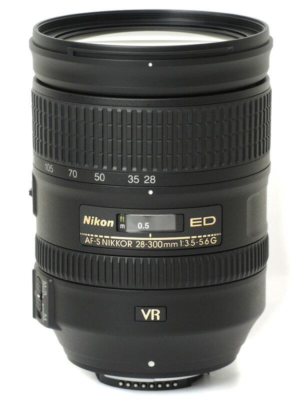 【Nikon】ニコン『AF-S NIKKOR 28-300mm f/3.5-5.6G ED VR』AFS28300GVR FXフォーマット デジタル一眼レフカメラ用レンズ 1週間保証【中古】