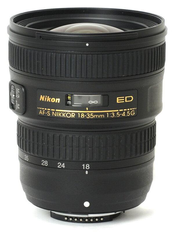 【Nikon】ニコン『AF-S NIKKOR 18-35mm f/3.5-4.5G ED』AF-S18-35G FXフォーマット 一眼レフカメラ用レンズ 1週間保証【中古】