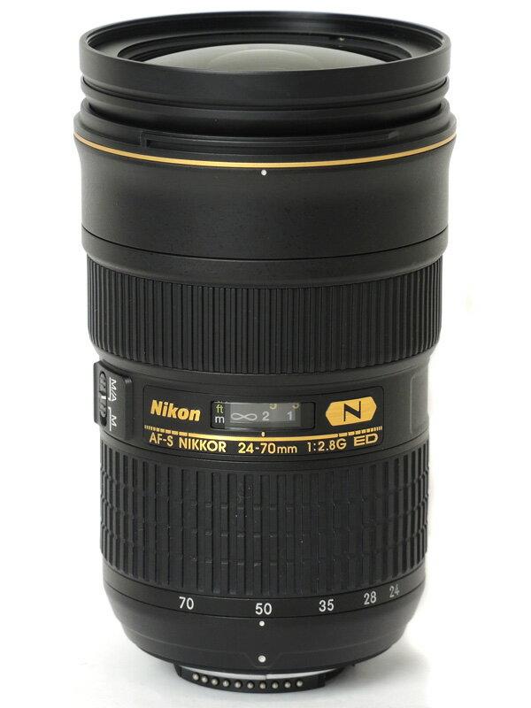 【Nikon】ニコン『AF-S NIKKOR 24-70mm f/2.8G ED』AFS24-70G FXフォーマット デジタル一眼レフカメラ用レンズ 1週間保証【中古】