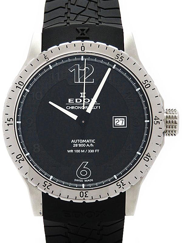 【EDOX】【裏スケ】エドックス『クロノラリー1』80094-3-NN メンズ 自動巻き 1週間保証【中古】