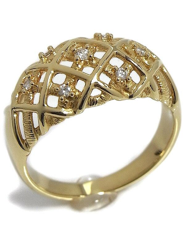 【TASAKI】【仕上済】タサキ『K18YGリング ダイヤモンド0.07ct』13号 1週間保証【中古】