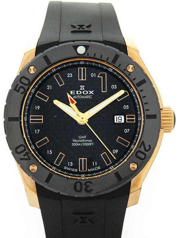 【EDOX】【美品】エドックス『クラスワン GMT オートマチック』93005 37R NIR メンズ 自動巻き 1ヶ月保証【中古】