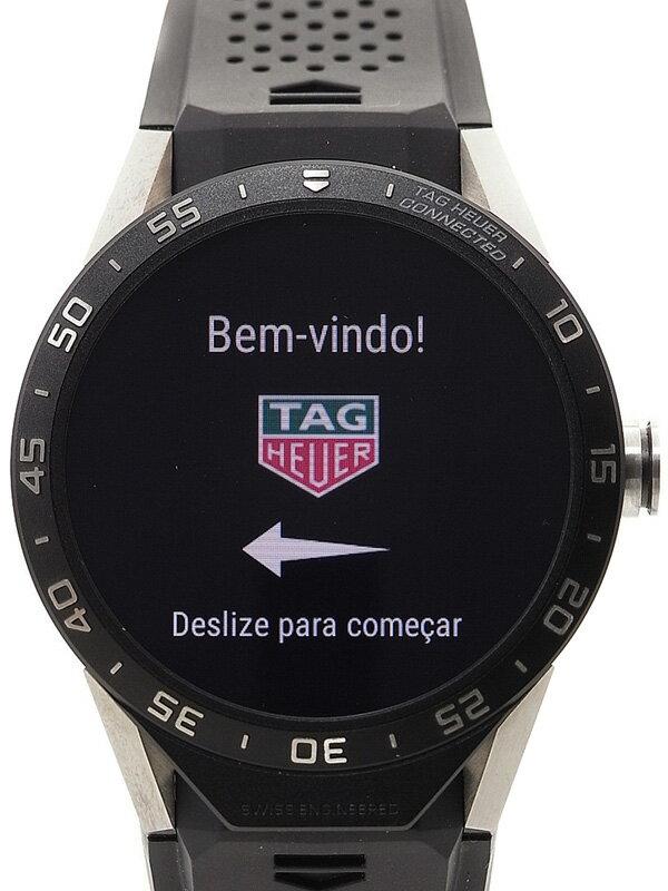 【TAG Heuer】【スマートウォッチ】【'16年購入】【美品】タグホイヤー『コネクテッドウォッチ』SAR8A80.FT6045 メンズ 腕型端末 1ヶ月保証【中古】