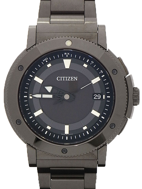 【CITIZEN】【美品】【`15年購入】シチズン『シリーズ8』AS7114-54E メンズ ソーラー電波クォーツ 1ヶ月保証【中古】