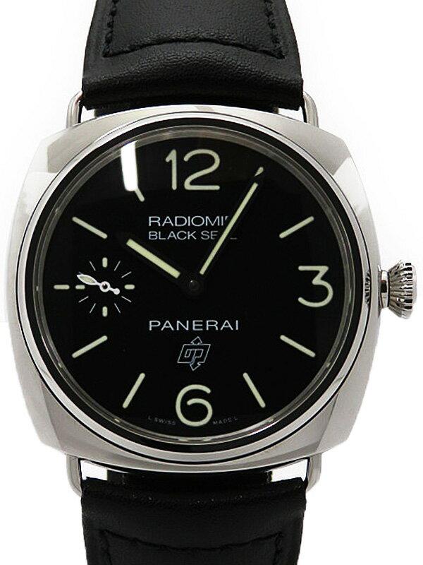 【PANERAI】【'16年購入】【美品】パネライ『ラジオミール ブラックシール ロゴ』PAM00380 S番'16年製 メンズ 手巻き 6ヶ月保証【中古】
