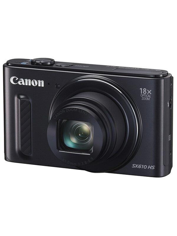 【Canon】キヤノン『PowerShot SX610 HS』PSSX610HS(BK) ブラック 2020万画素 光学18倍 広角25mm フルHD Wi-Fi コンパクトデジタルカメラ【中古】