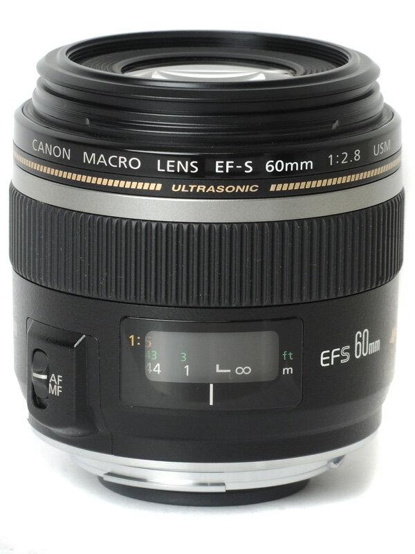 【Canon】キヤノン『EF-S60mm F2.8マクロUSM』EF-S6028MU 96mm相当 等倍 デジタル一眼レフカメラ用レンズ 1週間保証【中古】
