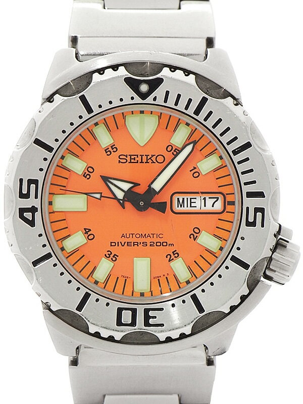 【SEIKO】【海外モデル】セイコー『オレンジモンスター ダイバーズ』SKX781K3 メンズ 自動巻き 1週間保証【中古】