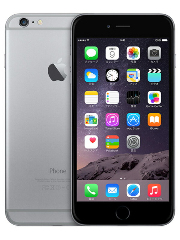 【Apple】アップル『iPhone 6 64GB SoftBank』MG4F2J/A スペースグレイ 4.7型 白ロム ○判定 スマートフォン【中古】