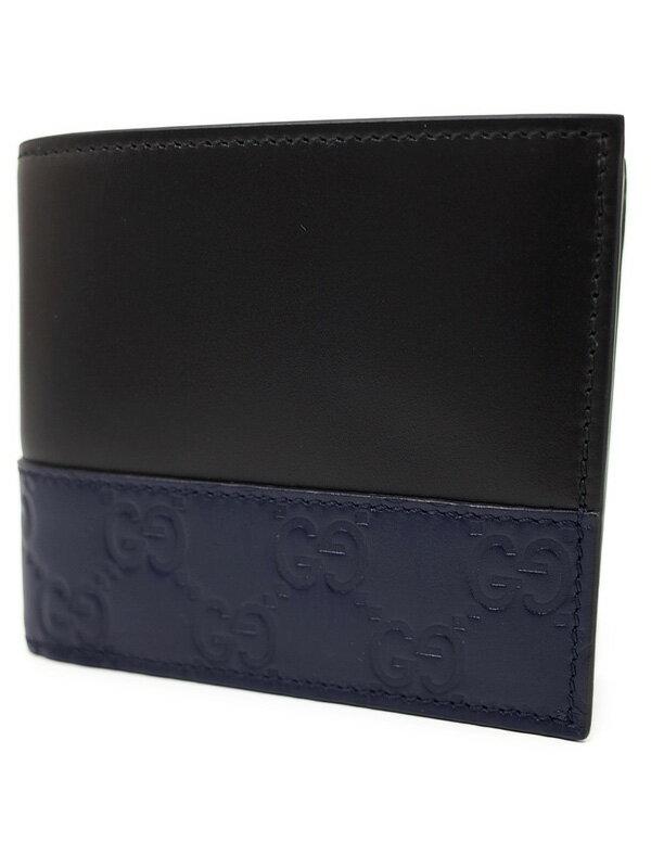 【GUCCI】グッチ『二つ折り短財布』365487 メンズ 1週間保証【中古】