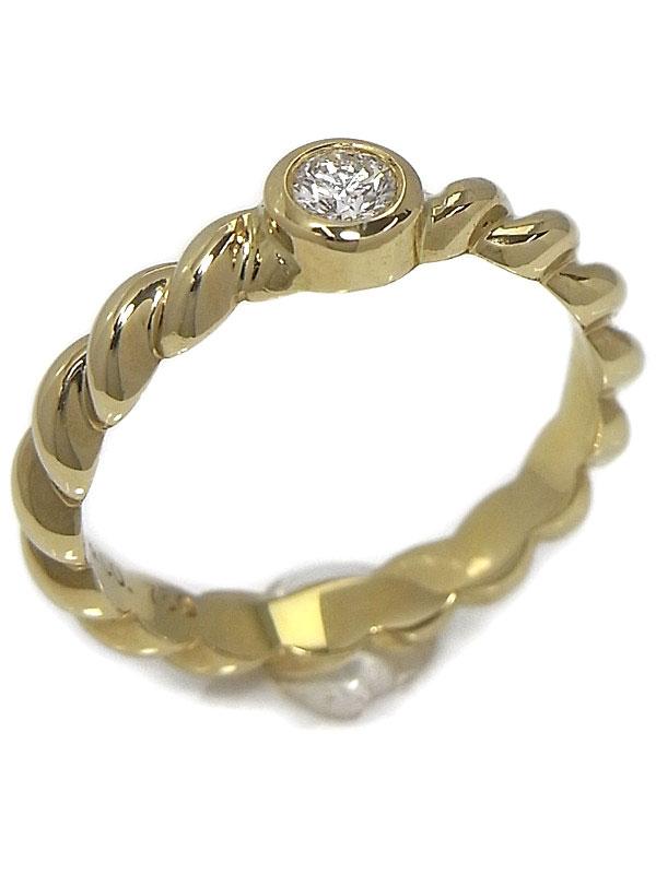 【TIFFANY&Co.】ティファニー『K18YGリング 1Pダイヤモンド』9号 1週間保証【中古】