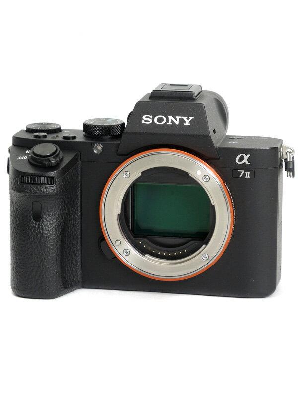 【SONY】ソニー『α7IIボディ』ILCE-7M2 2430万画素 フルサイズ Eマウント フルHD動画 ミラーレス一眼カメラ【中古】