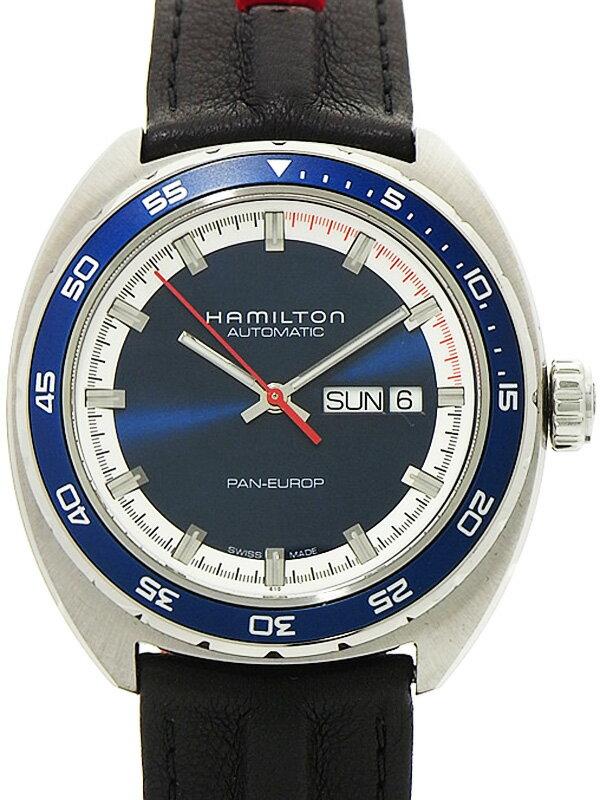 【HAMILTON】【裏スケ】【美品】ハミルトン『パンユーロ』H35405941 メンズ 自動巻き 1ヶ月保証【中古】