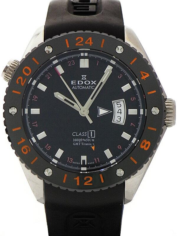 【EDOX】エドックス『クラスワン GMT』93002-TIN-NIN メンズ 自動巻き 1ヶ月保証【中古】