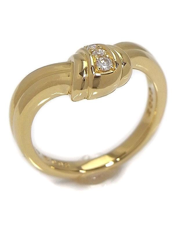 【POLA】【仕上済】ポーラ『K18YGリング ダイヤモンド0.05ct』12号 1週間保証【中古】