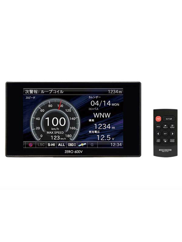 コムテック『ZERO600V』3.2型液晶 Gセンサー ゾーン30 ワンボディ リモコン GPSレーダー探知機【新品】