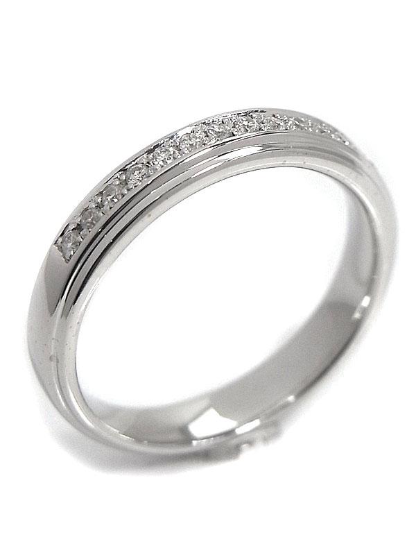 【仕上済】4℃『K18WGリング ダイヤモンド』8号 1週間保証【中古】