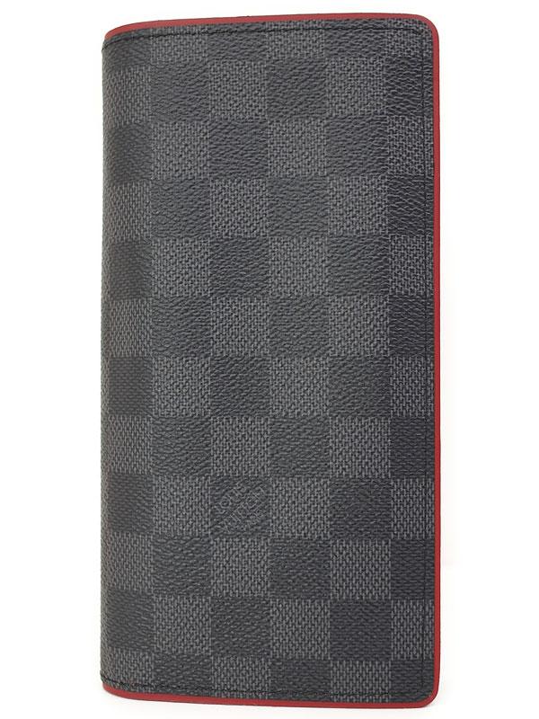 【LOUIS VUITTON】ルイヴィトン『ダミエ グラフィット ポルトフォイユ ブラザ』N63254 メンズ 二つ折り長財布 1週間保証【中古】