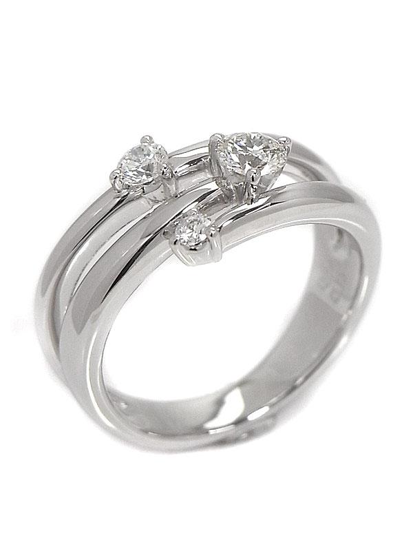 【TASAKI】【仕上済】タサキ『K18WGリング ダイヤモンド0.23ct 0.15ct』12号 1週間保証【中古】