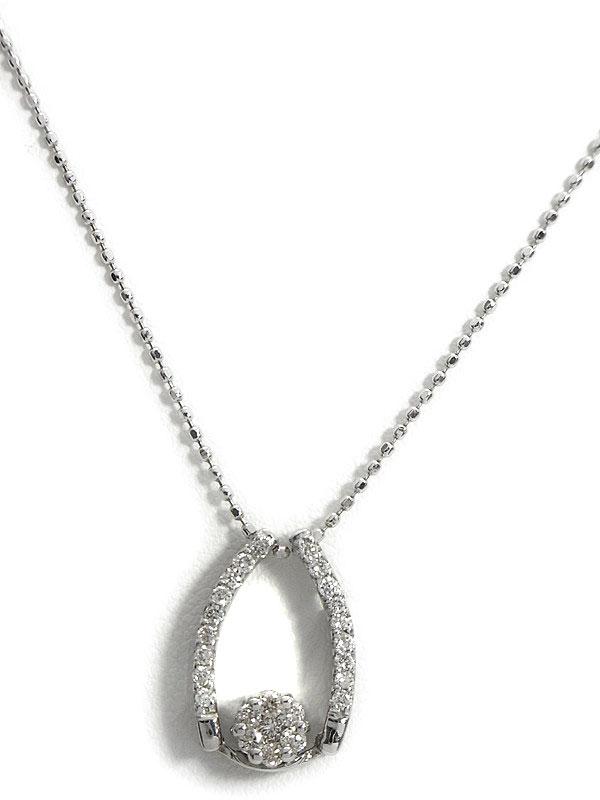 【2Way】セレクトジュエリー『K18WGネックレス ダイヤモンド0.23ct』1週間保証【中古】