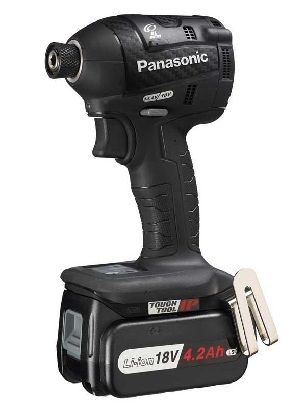 【応援価格】パナソニック『充電インパクトドライバー』EZ75A7LS2G-B 黒 18V 14.4V対応 4.2Ah×2 充電器付【中古】
