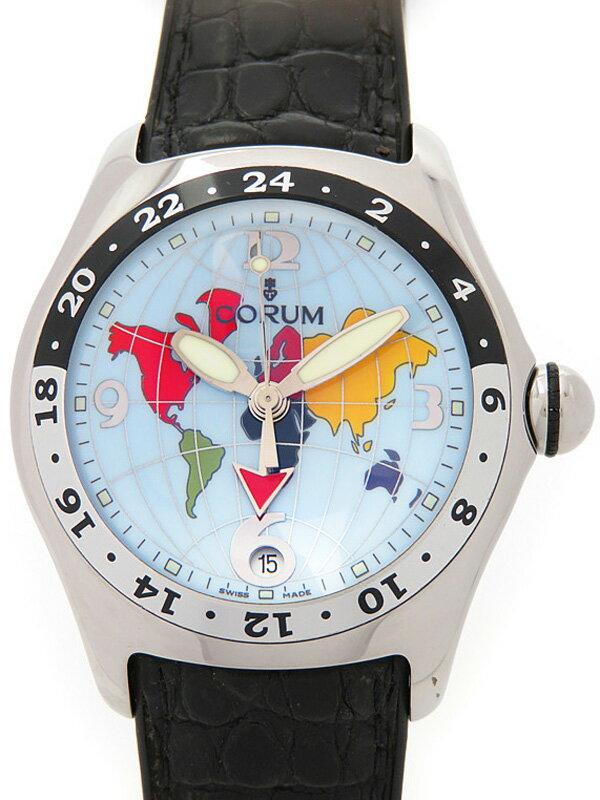 【CORUM】【裏スケ】【OH済】コルム『バブル GMT』383.25020 メンズ 自動巻き 3ヶ月保証【中古】