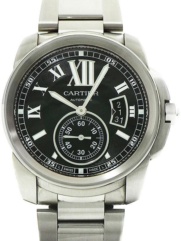 【CARTIER】【裏スケ】カルティエ『カリブル ドゥ カルティエ』W7100016 メンズ 自動巻き 6ヶ月保証【中古】