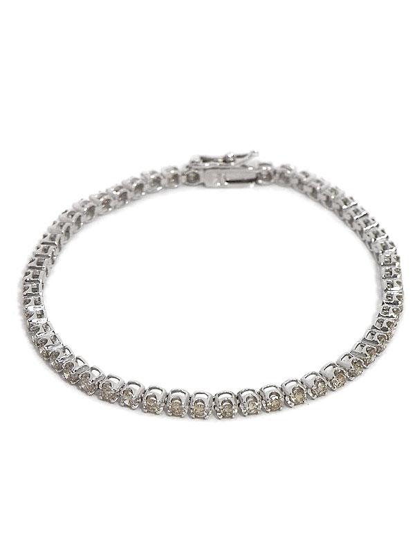 セレクトジュエリー『K18WGブレスレット ダイヤモンド2.00ct テニスブレス』1週間保証【中古】