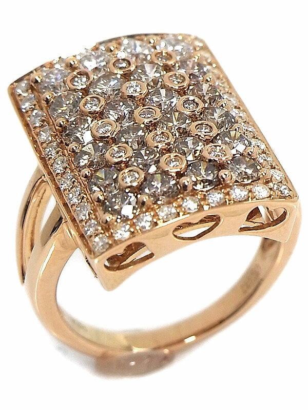 【仕上済】セレクトジュエリー『K18PGリング ダイヤモンド2.50ct』13号 1週間保証【中古】