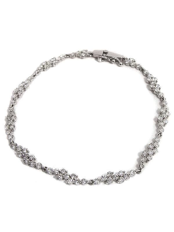【仕上済】セレクトジュエリー『K18WGブレスレット ダイヤモンド2.79ct』1週間保証【中古】