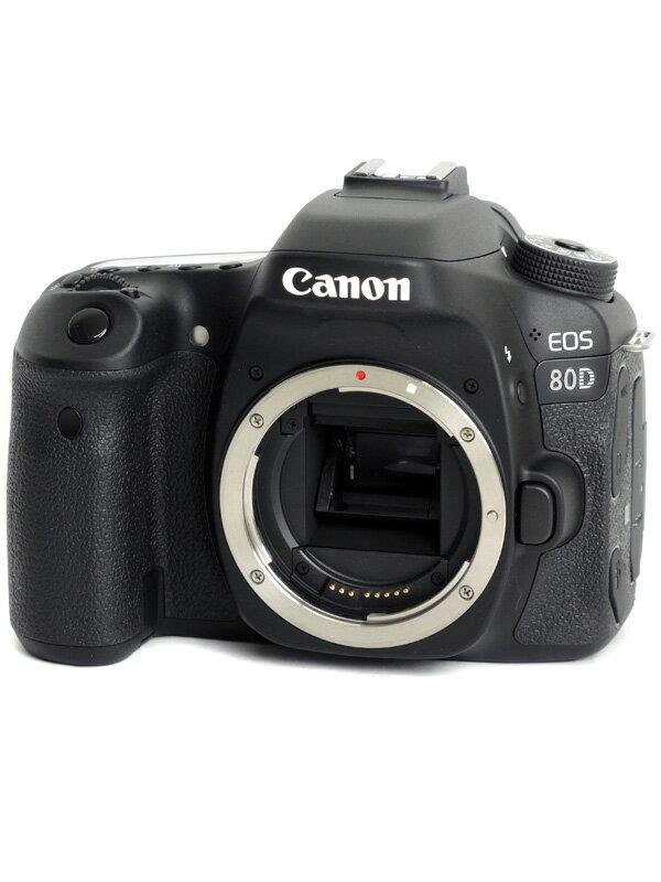 【Canon】キヤノン『EOS 80Dボディー』EOS80DBODY APS-C 2420万画素 バリアングル Wi-Fi フルHD動画 デジタル一眼レフカメラ 1週間保証【中古】