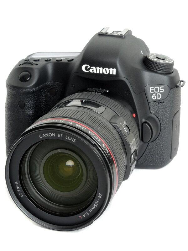 【Canon】キヤノン『EOS 6D EF24-105L IS USMレンズキット』EOS6D24105ISLK デジタル一眼レフカメラ 1週間保証【中古】