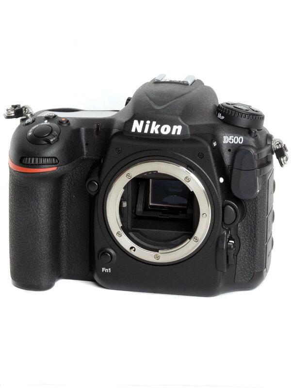 【Nikon】ニコン『D500』2088万画素 DXフォーマット ISO51200 4K動画 Wi-Fi ボディー デジタル一眼レフカメラ 1週間保証【中古】