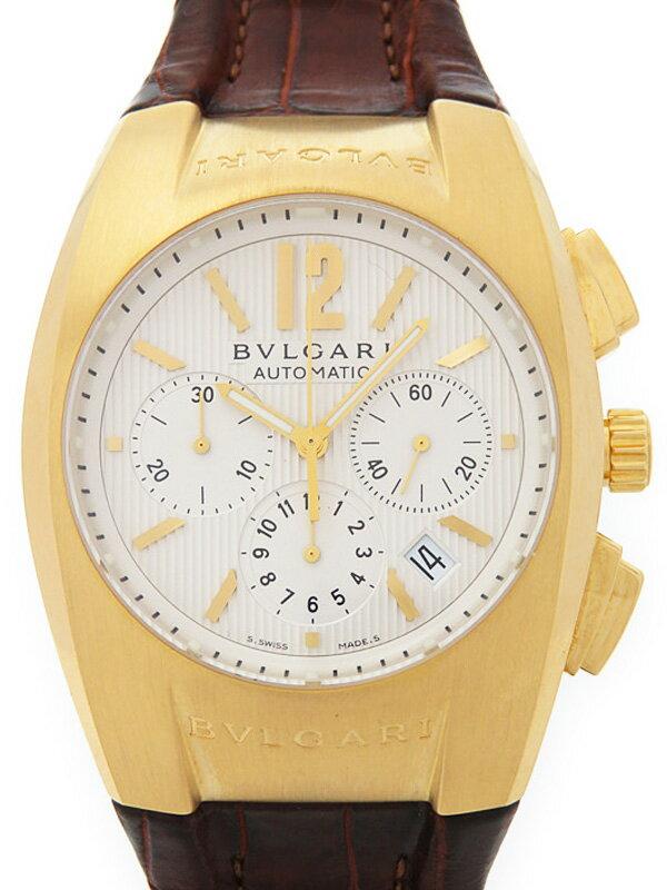 【BVLGARI】【YGケース】【仕上済】ブルガリ『エルゴン クロノグラフ』EG40GCH メンズ 自動巻き 6ヶ月保証【中古】